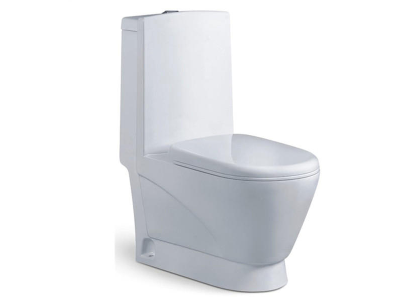 One piece washdown ceramic western hotel toilet set
