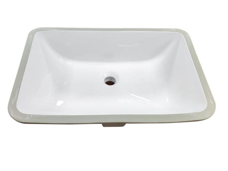 Ceramic bathroom under mount sink