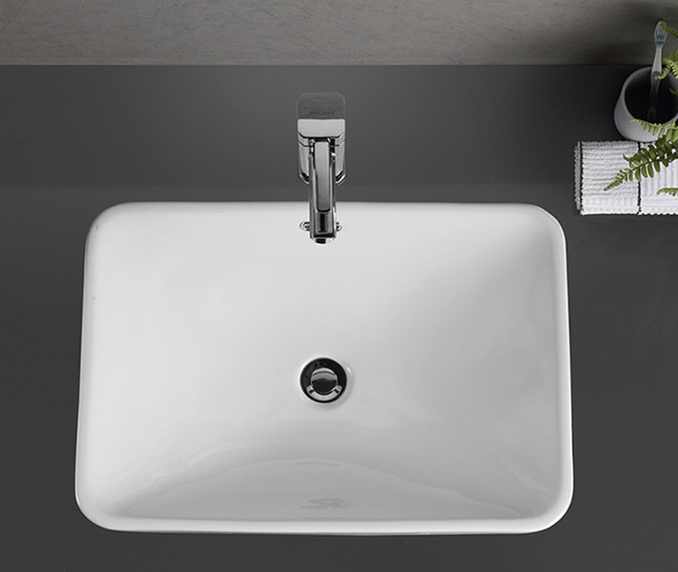 ceramic above counter bathroom sink customized for bathroom-1
