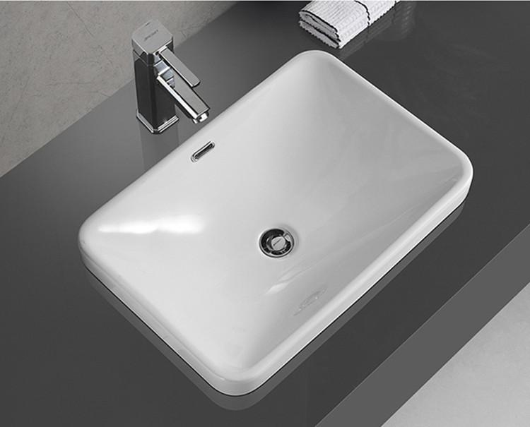 ceramic above counter bathroom sink customized for bathroom-2