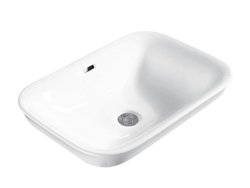 Ceramic bathroom white in-counter vasque lavabo basin
