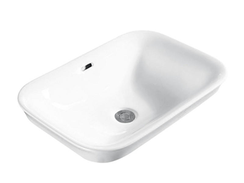 Ceramic bathroom white in-counter vasque lavabo basin