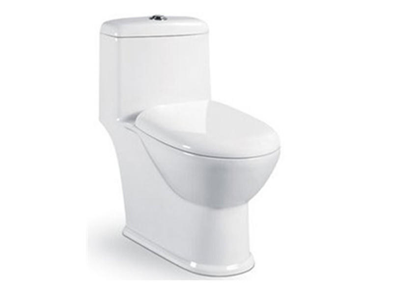 Siphonic ceramic one piece toilet dolomite sanitary ware