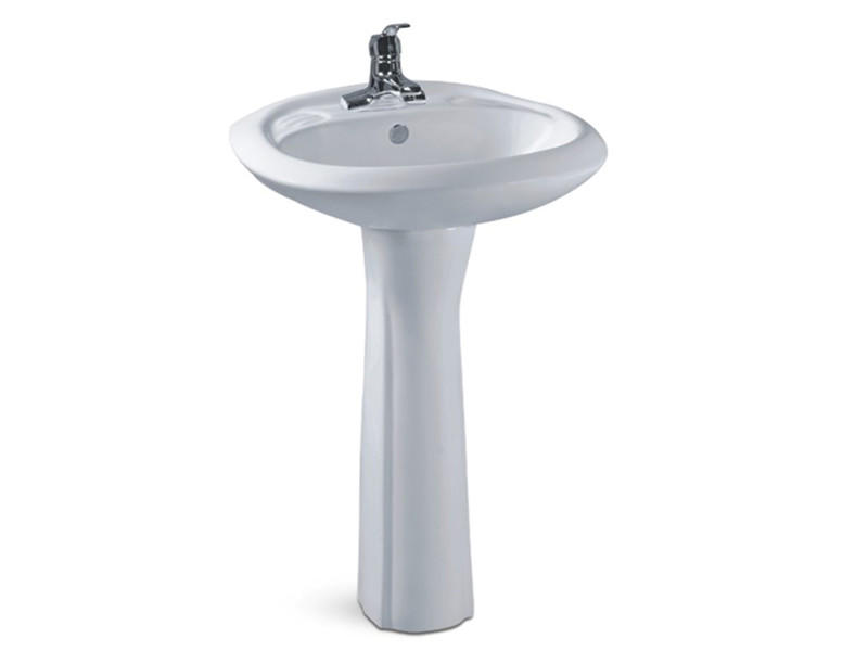 Bathroom ceramic cheap wash hand basin with pedestal