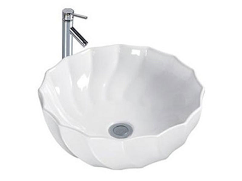 Porcelain ware lotus shape wash hand sink basin