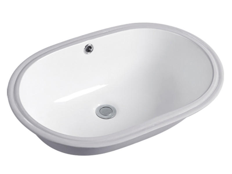 Ceramic size of oval wash basin under counter