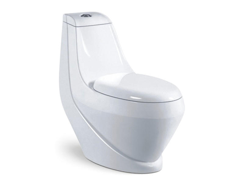 4inch big hole sanitary ceramic one piece bathroom colored toilet bowl