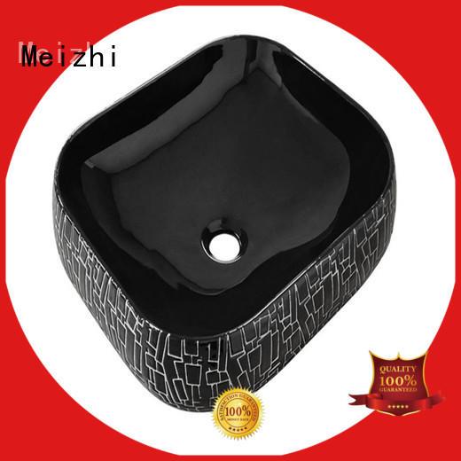 Meizhi black bathroom basin factory price for cabinet
