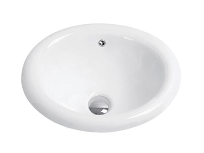 Bathroom ceramic top counter round circular wash basin