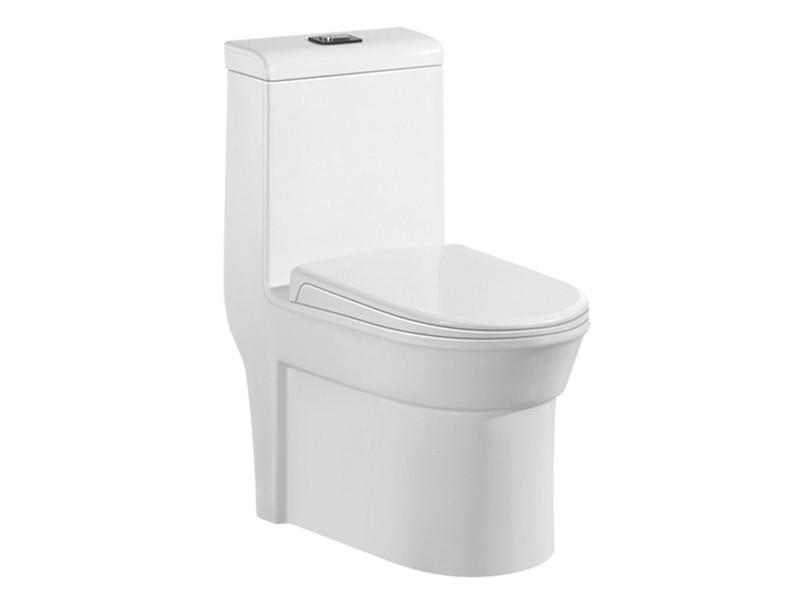 Ceramic siphonic 360 angle tornado flushing one-piece toilet