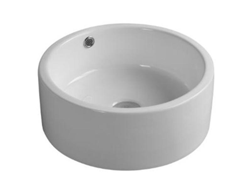 Hot sale round bathroom ceramic wash hand basin