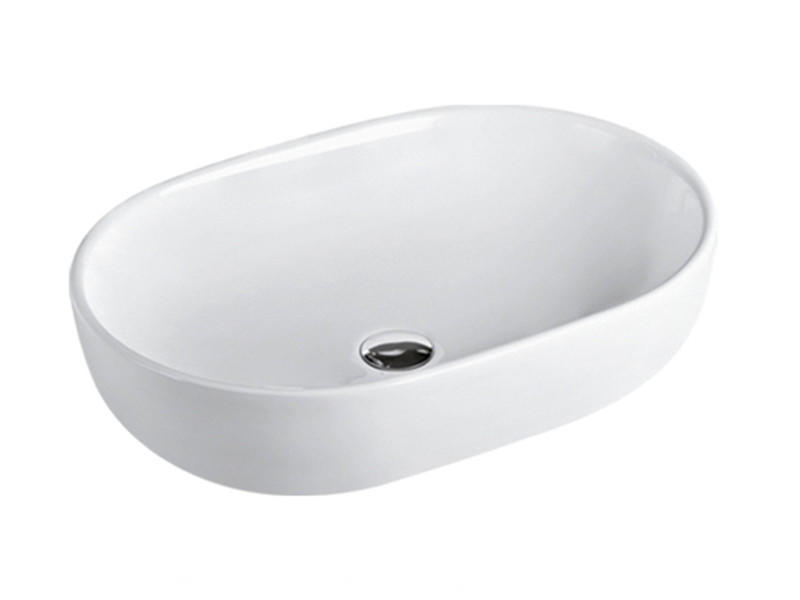 Bathroom table top shell shaped bathroom sink