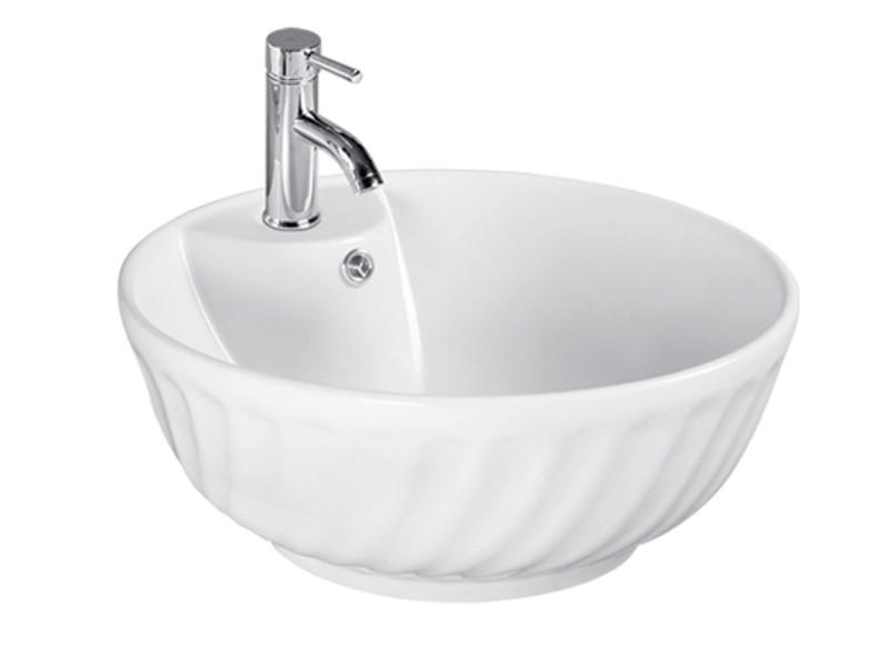 Bathroom ceramic single washplane sink