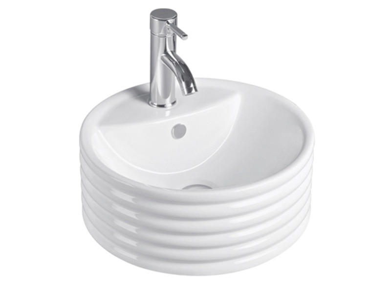 Chaozhou round ceramic washroom sink wash basin