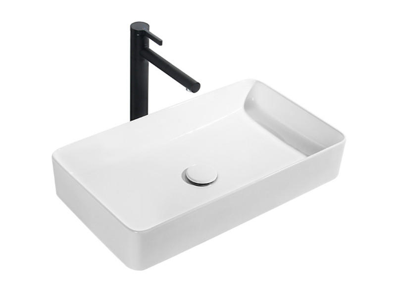 Bathroom sinks slim edge countertop dining room ceramic rectangular wash hand basin