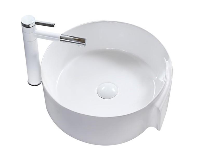 New design countertop mounted ceramic washing basin
