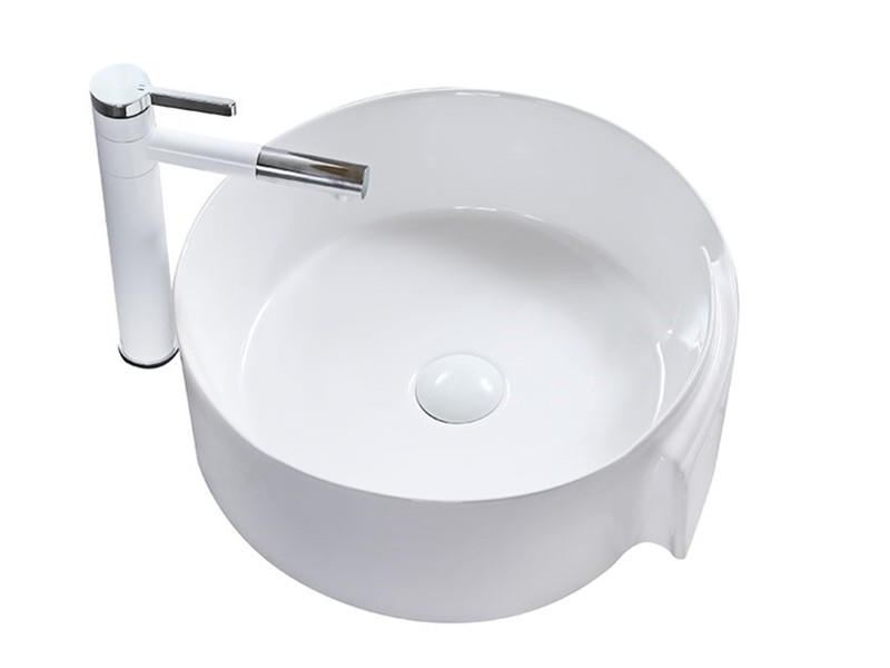 New design countertop mounted ceramic washing basin