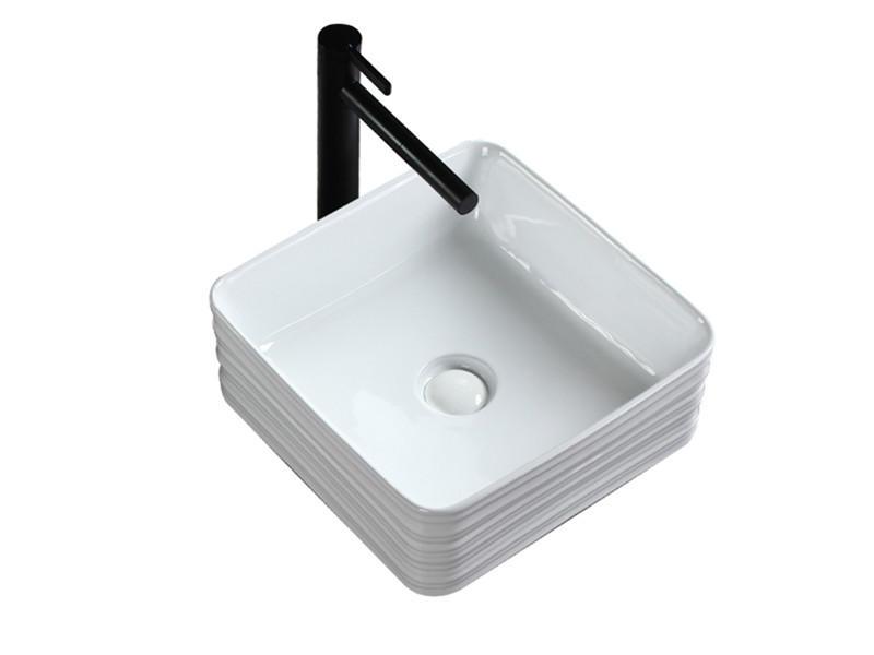Chaozhou washroom square lavabo vessel ceramic sink bowl