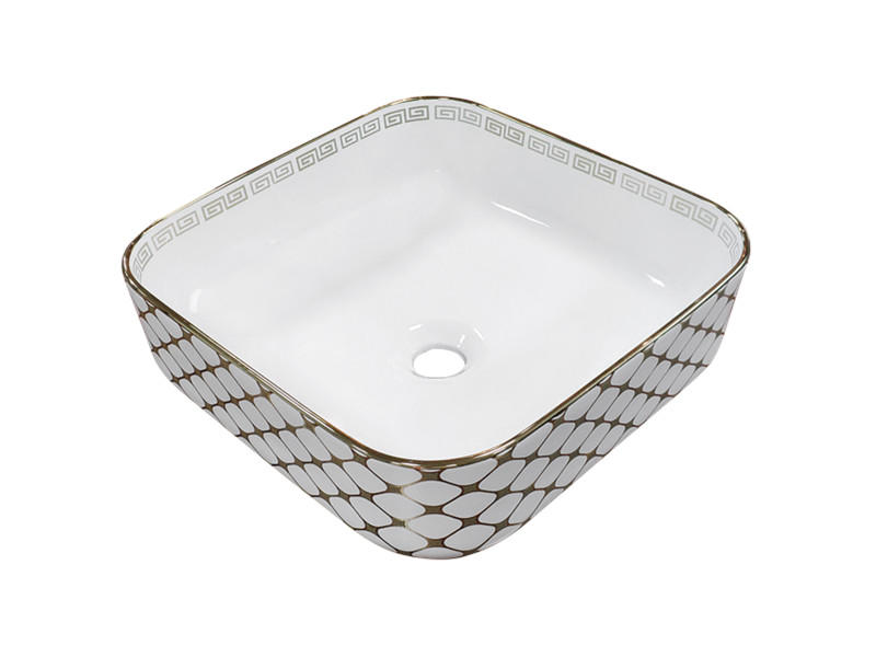 Exotic ceramic luxe wash basin