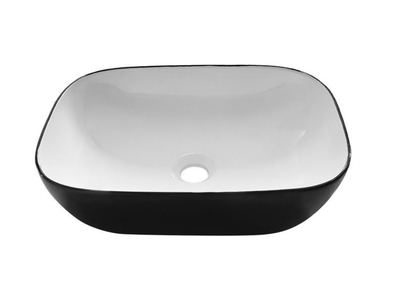 Bathroom accessories black and white ceramic robinet lavabo