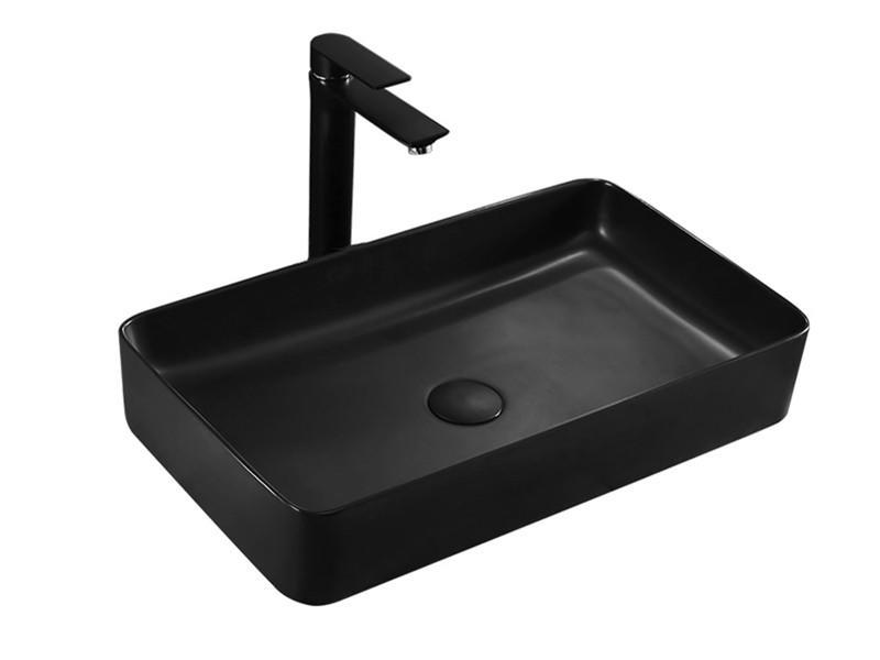 Sanitary ware rectangle matte black bathroom sink