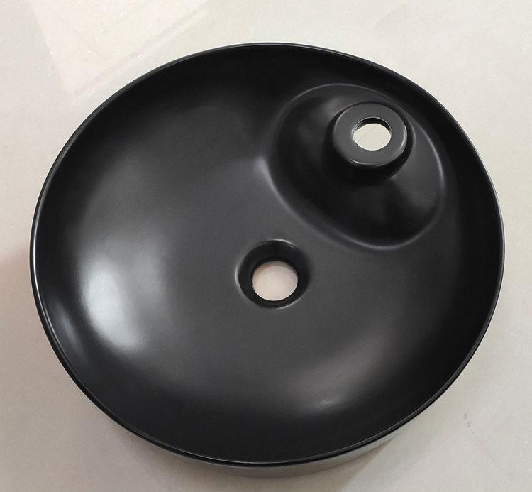 creative black sink basin custom for washroom-2
