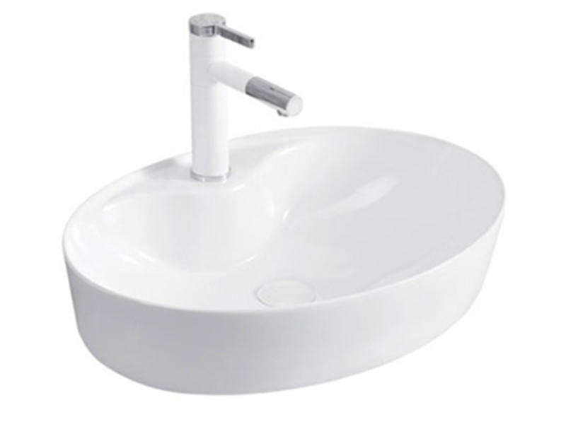 Stable quality elegant shape bathroom ceramic deep basin sink