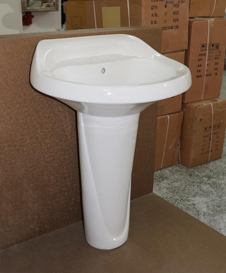 Meizhi popular corner basin with pedestal factory for bathroom-2