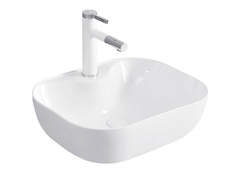 Popular small top counter ceramic face art basin for bathroom