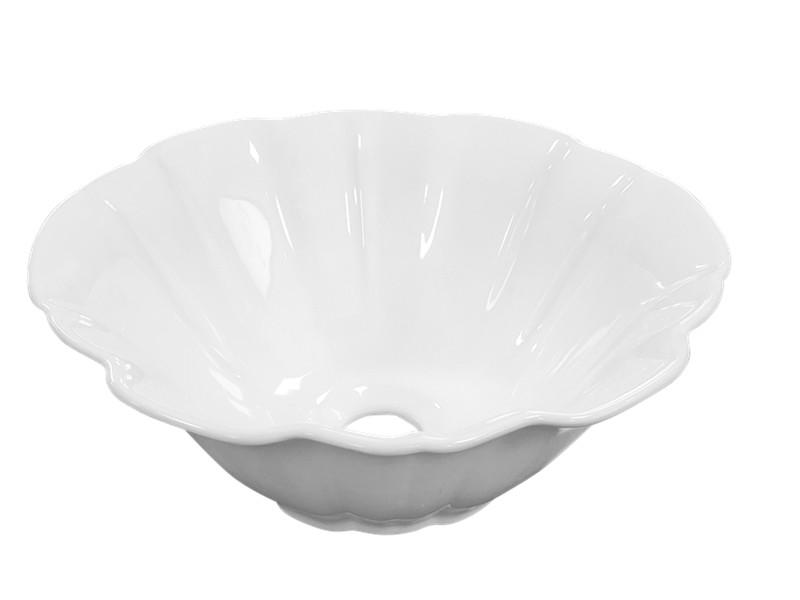 Ceramic countertop flower wash basin sizes in inches