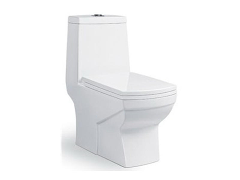 Square ceramic washdown one piece toilet