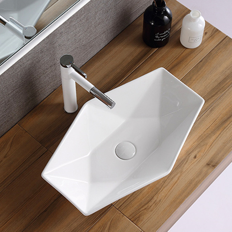 printed gold wash basin supplier for bathroom-1