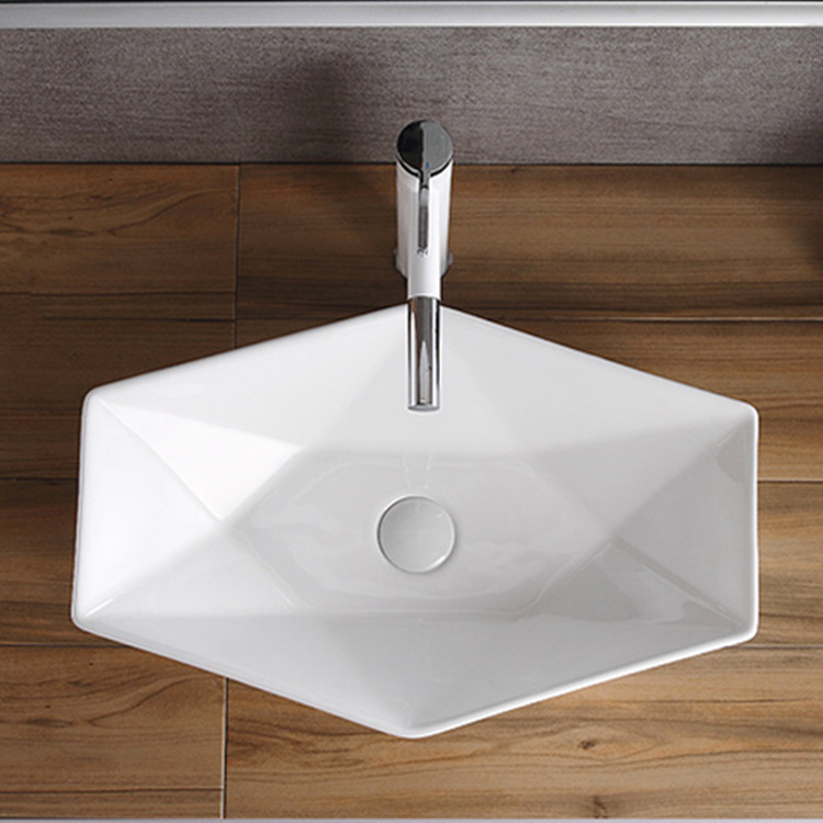 printed gold wash basin supplier for bathroom-2