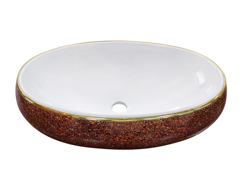 Bathroom ceramic color crystal glass basins