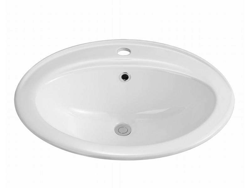 China cheap porcelain one piece bathroom sink and countertop