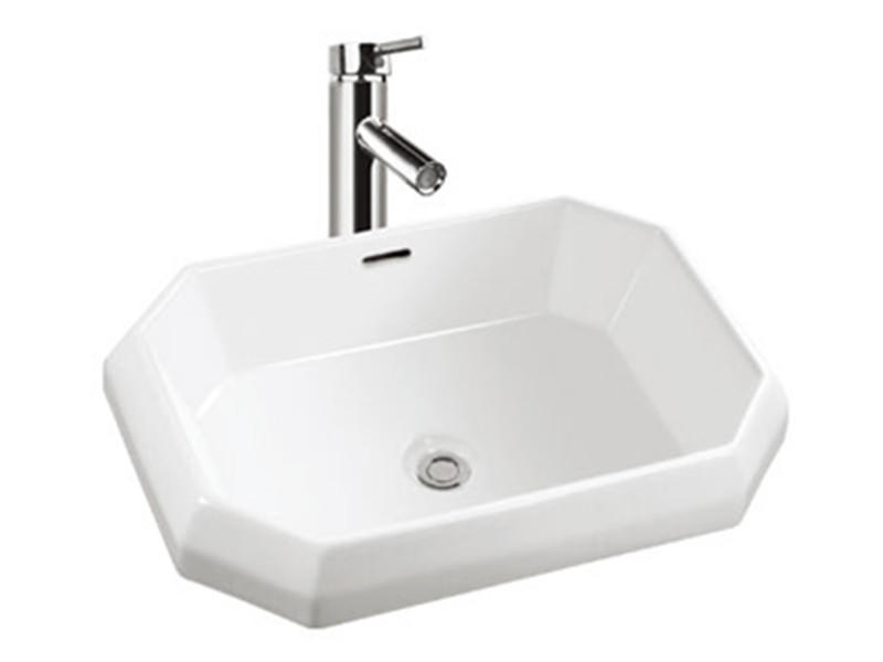 Guangzhou ceramic bathroom washing octagonal sink