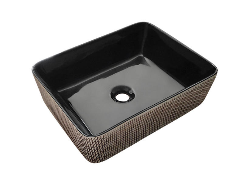 Square bathroom industrial ceramic sinks