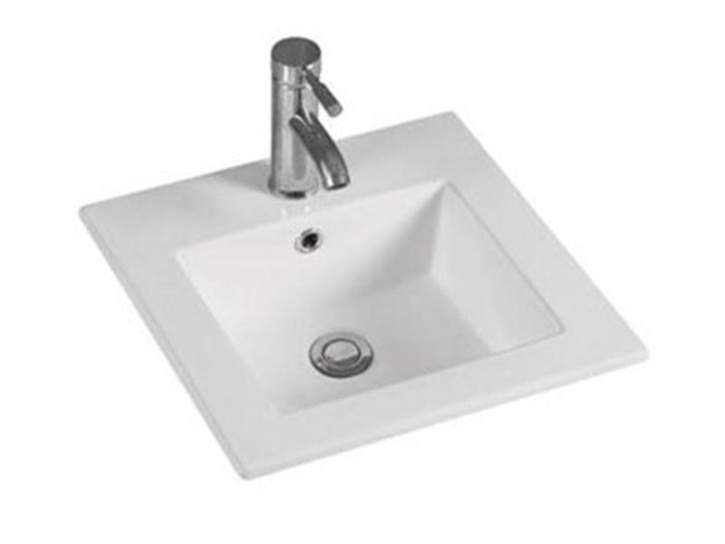 Bathroom small square classic cabinet wash basin