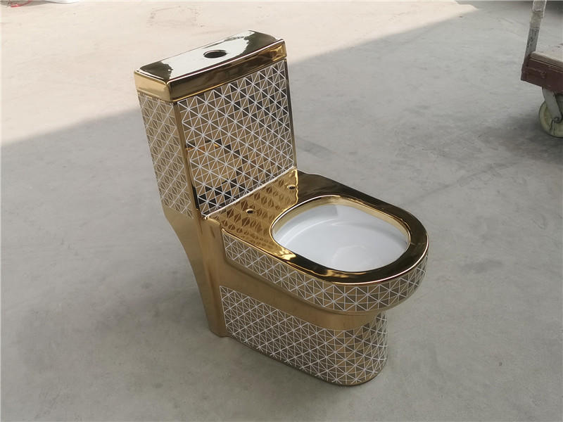 Bathroom sanitary ware golden color toilet gold wc toilet