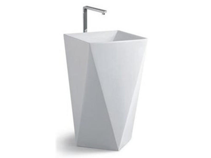 Modern design ceramic china metal one piece wash basin stand