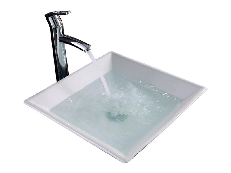 Chaozhou factory ceramic bathroom square wash basin