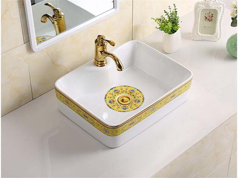 Hot Design Peerless Pottery Counter Top Cloakroom Ceramic Basin