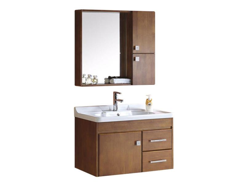 Bathroom counter wash basin wooden cabinet