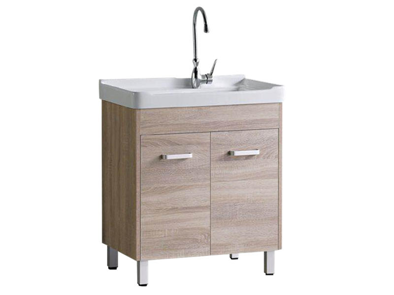 China supply bathroom wooden classic laundry sink cabinet