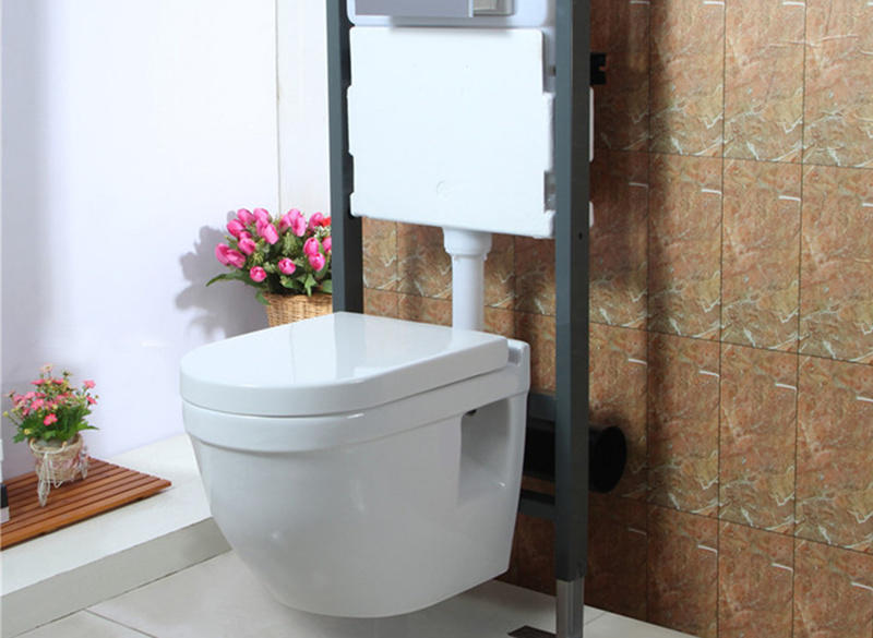 Sanitary ware white 180mm roughing-in ceramic wall hung toilet price for factory