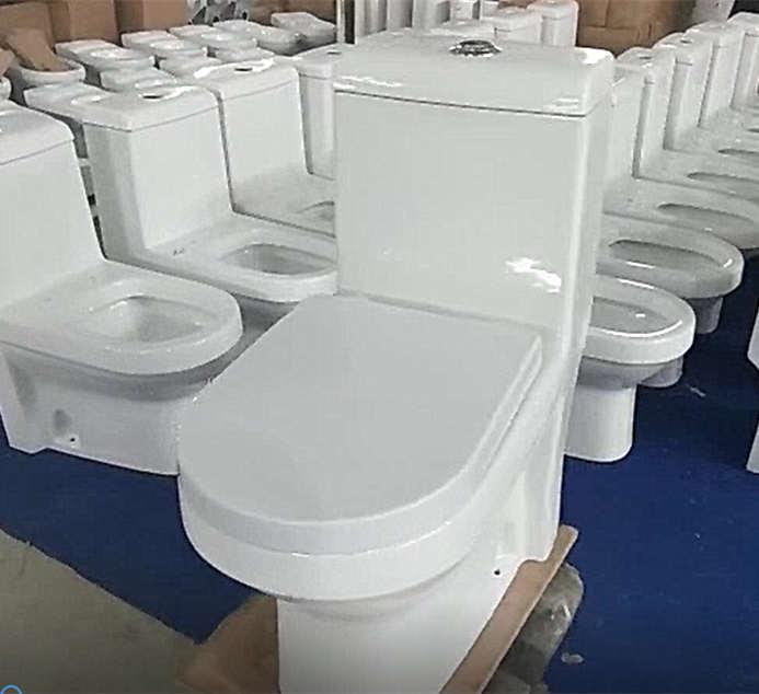 Sanitary ware P-trap one piece toilet