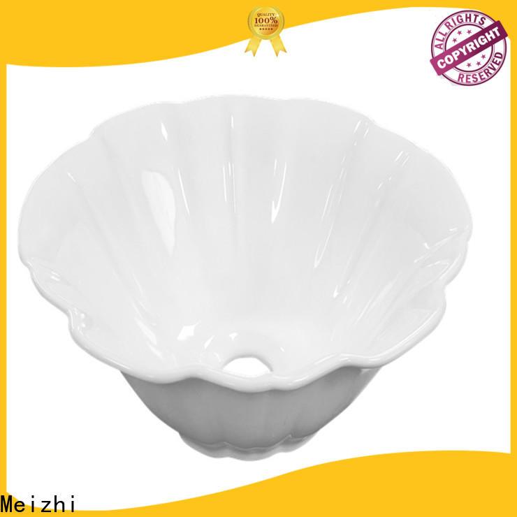 Meizhi white toilet wash basin customized for bathroom