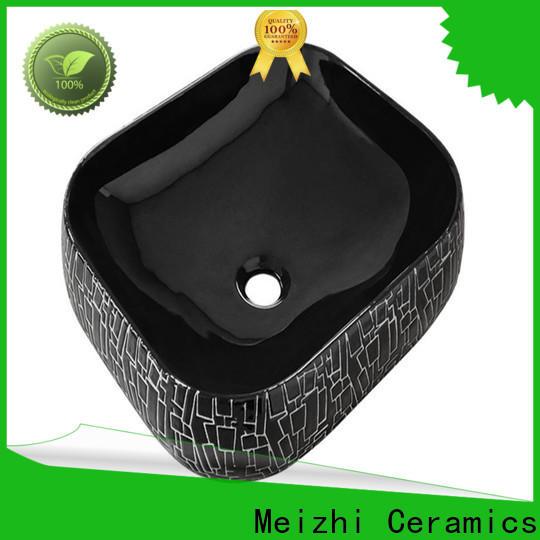 Meizhi black bathroom basin supplier for hotel