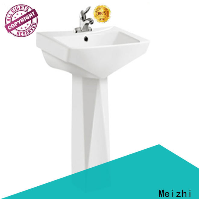 Meizhi ceremic basin and pedestal customized for bathroom