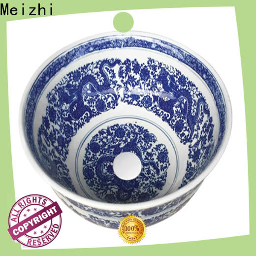 printed round wash basin factory price for hotel